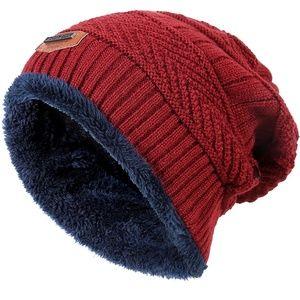 Winter Knit Skull Cap Woolen Slouchy Beanie Hat